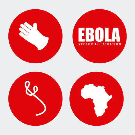 hospital germ: ebola graphic design , vector illustration