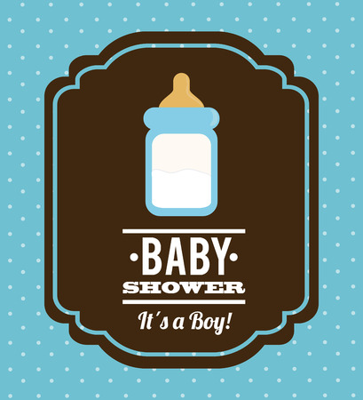 drink bottle: baby shower graphic design , vector illustration Illustration