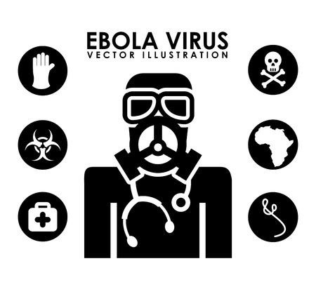 gas mask danger sign: ebola graphic design , vector illustration