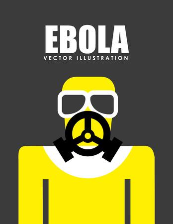 safety googles: ebola graphic design , vector illustration