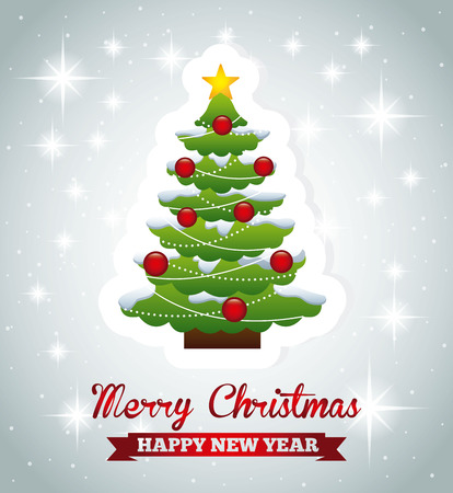 merry christmas graphic design , vector illustration Vector