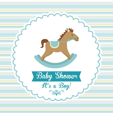 baby seal: baby shower graphic design , vector illustration Illustration