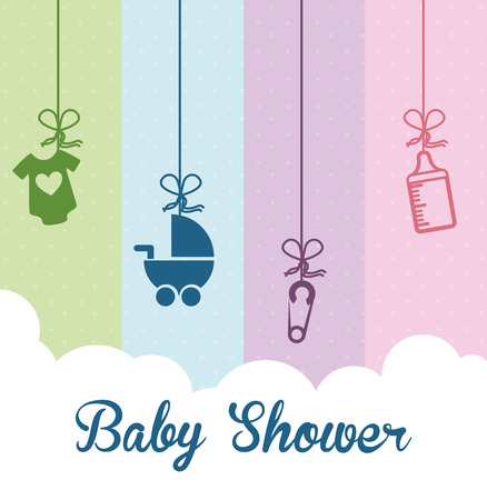baby: baby shower graphic design , vector illustration Illustration