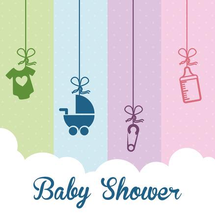 ducha del bebé de diseño gráfico, ilustración vectorial