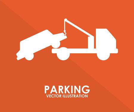 car park: parking graphic design , vector illustration