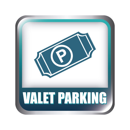 valet: parking graphic design , vector illustration
