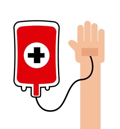 blood bag: medical graphic design , vector illustration Illustration