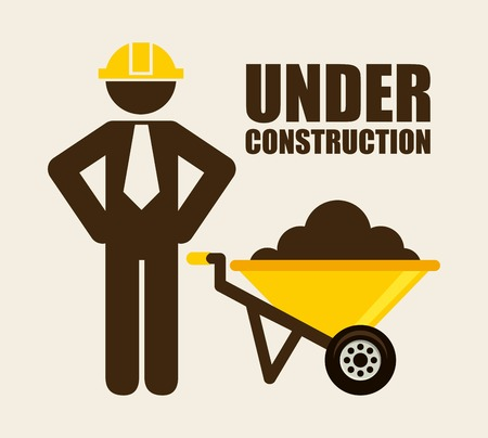 under construction sign: under construction graphic design , vector illustration Illustration