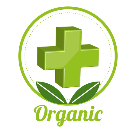 pharmacy icon: medicine organic graphic design , vector illustration