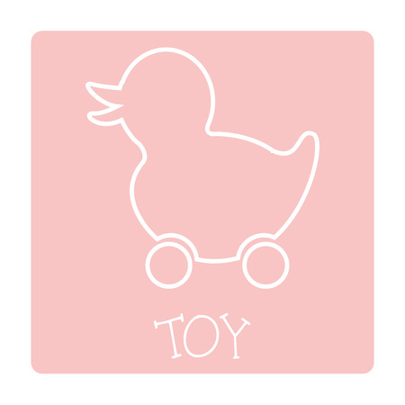 duckie: toy graphic design , vector illustration