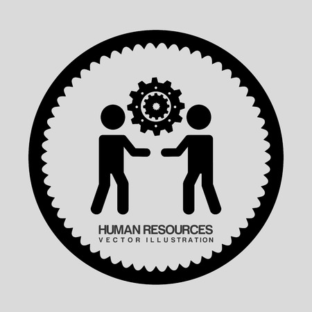 human resources graphic design , vector illustration Vector