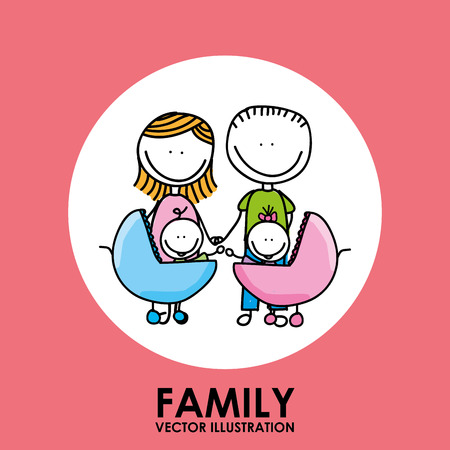 family graphic design , vector illustration Illustration