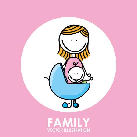 parental love: family graphic design , vector illustration Illustration