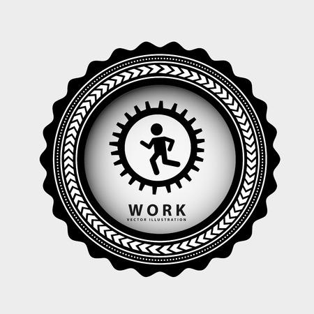 runing: dise�o gr�fico el trabajo en equipo, ilustraci�n vectorial