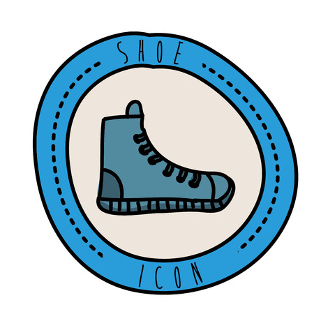 shoes graphic design , vector illustration Vector