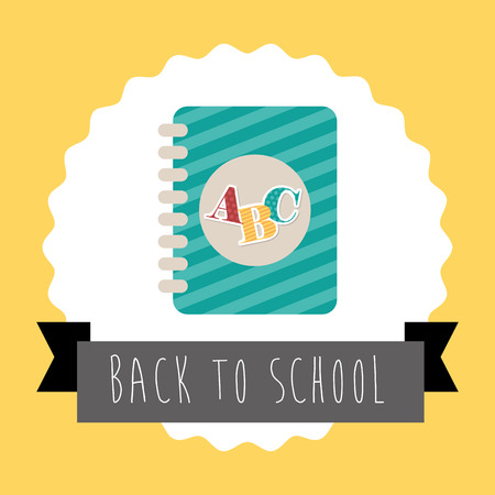 bock: back to school graphic design , vector illustration