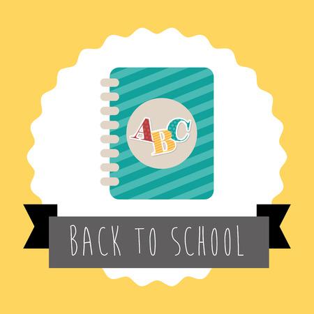 back to school graphic design , vector illustration