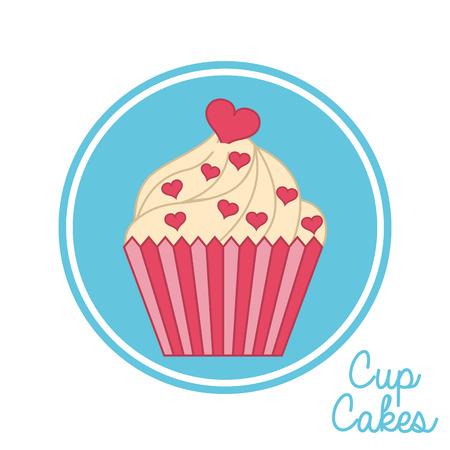 cupcake graphic design , vector illustration