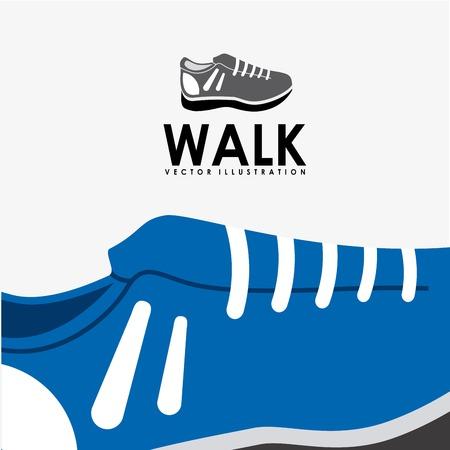 walk graphic design , vector illustration