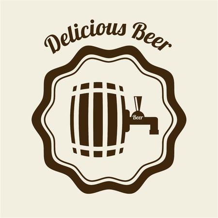 beer graphic design , vector illustration Vector