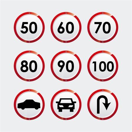 road signal graphic design , vector illustration Vector