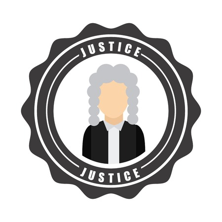 judicial system: justice graphic design , vector illustration