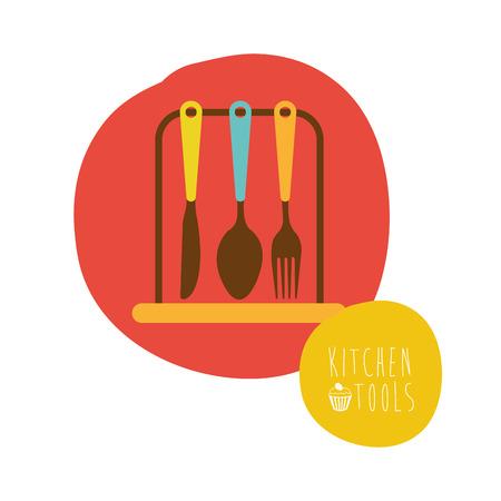 cooking utensils: kitchen graphic design , vector illustration Illustration