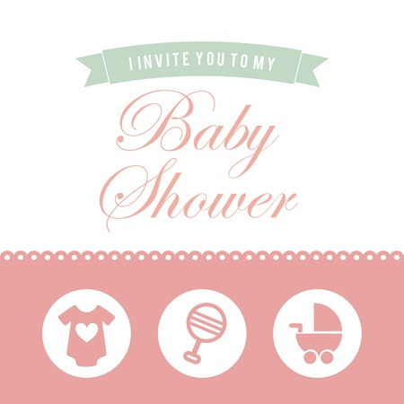 baby shower graphic design , vector illustration Vector