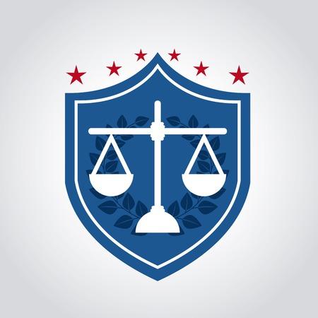 judicial system: dise�o gr�fico justicia, ilustraci�n vectorial