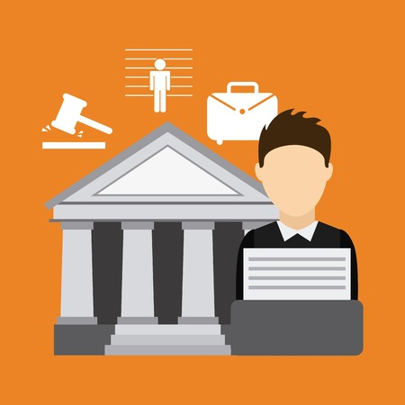 justice graphic design , vector illustration