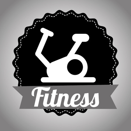 static bike: fitness graphic design , vector illustration