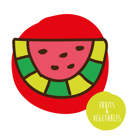 cute graphic: fruits cute graphic design , vector illustration