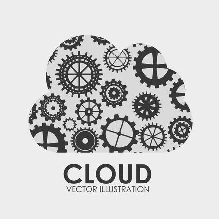 centralized: cloud graphic design , vector illustration