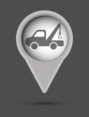 warning indicator: car graphic design , vector illustration