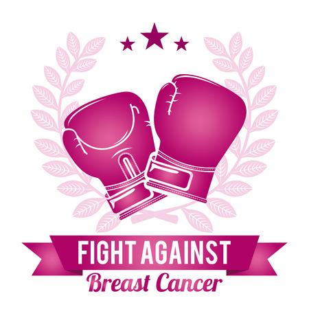 cancer: breast cancer graphic design , vector illustration Illustration