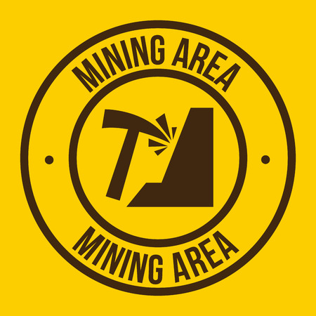 mining graphic design , vector illustration