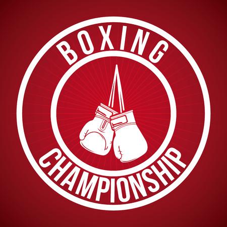 gloves: boxing graphic design , vector illustration Illustration