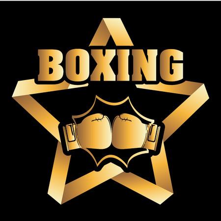 ボクシングのグラフィック デザイン、ベクトル イラスト
