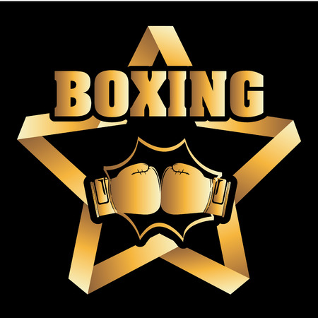 boxing graphic design , vector illustration Иллюстрация