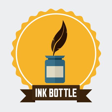poet: ink bottle graphic design , vector illustration Illustration