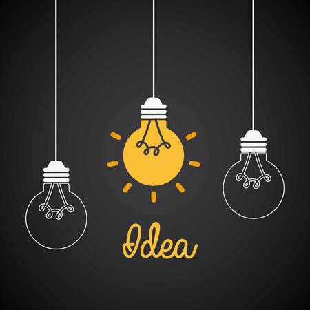 pensamiento creativo: diseño gráfico idea, ilustración vectorial Vectores