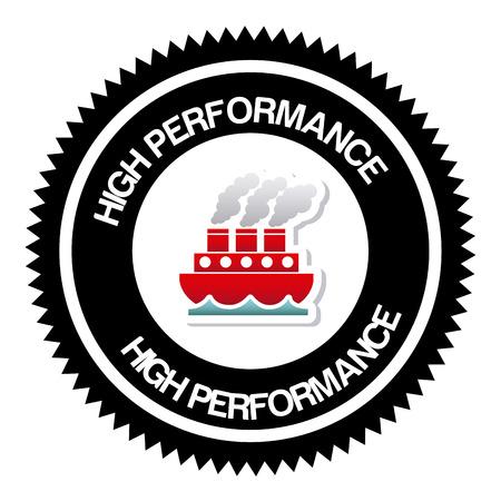 alto rendimiento: de alto rendimiento de dise�o gr�fico, ilustraci�n vectorial