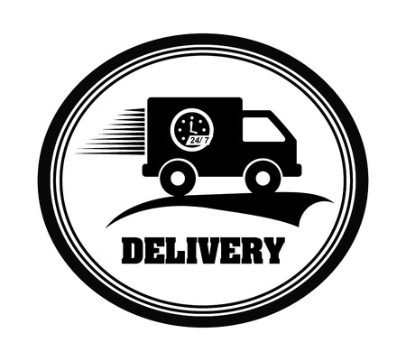 delivery graphic design , vector illustration
