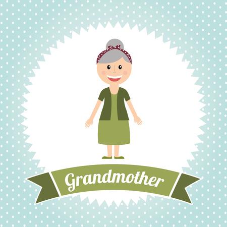 nanny: grandmother graphic design , vector illustration Illustration