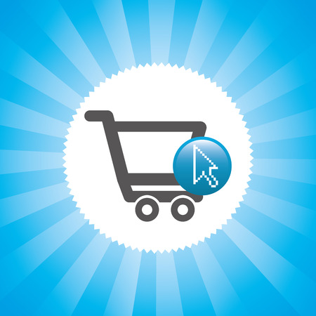 shoppingcart: ecommerce graphic design , vector illustration Illustration