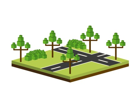 residential zone: city design over white background vector illustration