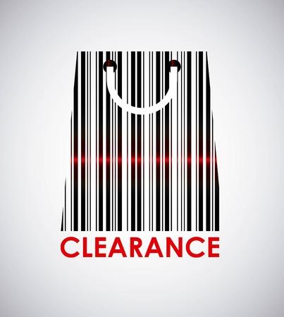codebar: clearance graphic design , vector illustration Illustration