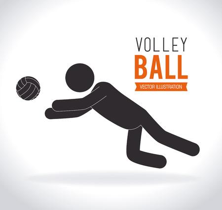 active life: Sports design over white background, vector illustration