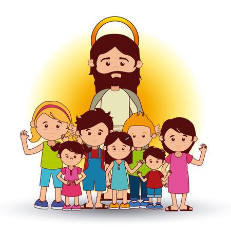 cristianismo: Dise�o cristianismo sobre fondo blanco, ilustraci�n vectorial
