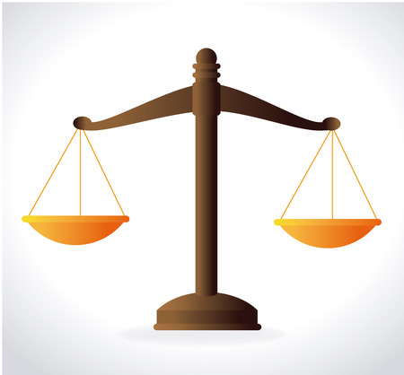 punishment: Law design over white background, vector illustration